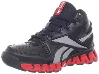 Reebok ZigNano ProFury Basketball Shoe (Little Kid/Big Kid),Black/Excellect Red,11 M US Little Kid