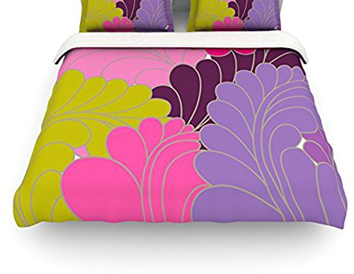 "Kess Inhouse Nicole Ketchum ""Moroccan Leaves"" Twin Cotton Duvet Cover, 68 By 88-Inch front-976983"