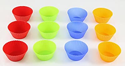Silicone Baking Cups, Cupcake Liners - Multi Pack- Nonstick Muffin Molds - Premium Quality Food Grade - Reusable Bake Wrappers - Replace Paper Baking Cups. Brand: Perfect Life Ideas -Tm R