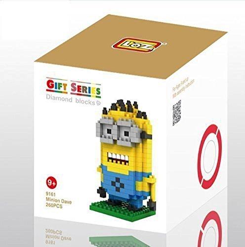 ZOZ-LOZ-Nano-Diamond-Block-Despicable-Me-Minion-Dave-260pcs-Parent-child-Games-Building-Blocks-Childrens-Educational-Toys
