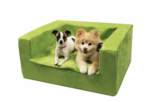 Best Friends By Sheri Luxury Sofa Suede Pet Bed, 27-1/2 By 31-1/2 By 14-Inch, Medium, Kiwi Green