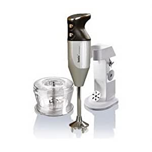 Bamix 391203 deluxe hand mixer in silver.