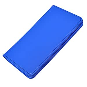 DCR Pu Leather case cover for HTC One Me (blue)