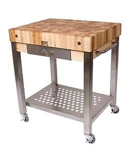 Amazon.com: Cucina Americana Technica Kitchen Cart with Butcher Block
