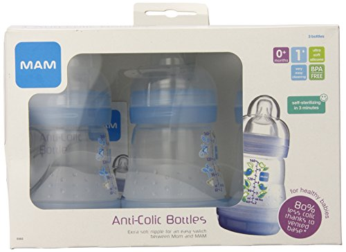 Mam 3-Pack Bpa Free Bottle, Boy, 5 Ounce front-781844