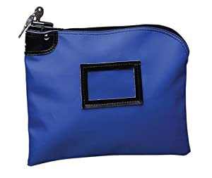 PM Company SecurIT Nylon Night Deposit Bag with Lock, 9 x 12 Inches, Blue, 1 per Box (04629)