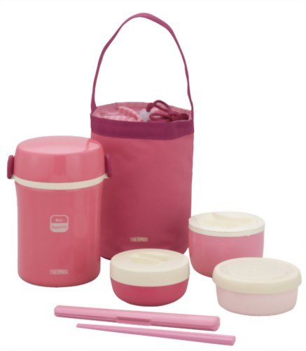 THERMOS Stainless Steel Thermal Lunchpail Pink Jbc-800 P - 1