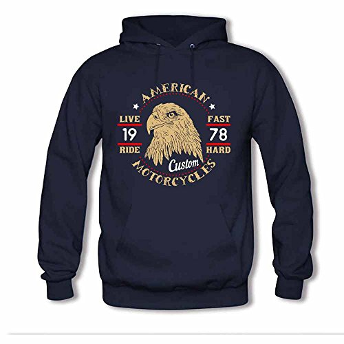 American Motocycles 1978 Live Ride, Eagle Logo Women's Hoodie S
