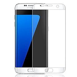 Galaxy S7 Edge Screen Protector, E LV S7 Edge Colored Front TPU Film Screen Protector (Not Tempered Glass) For Samsung Galaxy S7 Edge - EDGE to EDGE TPU HD Screen Protector for Samsung Galaxy S7 Edge - WHITE