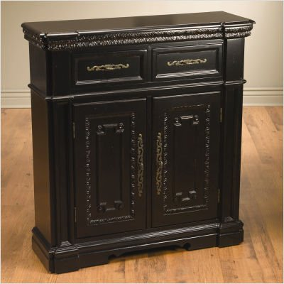 Picture of AA Importing One Drawer Sideboard in Black (48738-BK) (Sideboards)