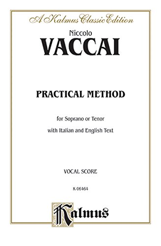 Practical Italian Vocal Method (Marzials): Soprano, Tenor (Kalmus Edition)