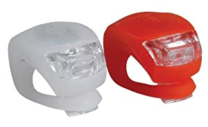 BeautyLife LED lampe Clip-On bande de silicium eclairage velo 2 pieces White & Red