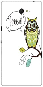 Snoogg Cute Vector Owl Hoooot Card Designer Protective Back Case Cover For So...