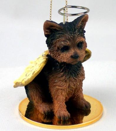 YORKSHIRE TERRIER Dog YORKIE Puppy Cut ANGEL Miniature Christmas ...