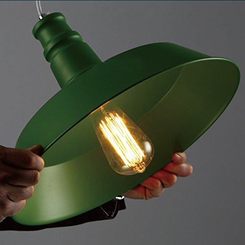 BAYCHEER HL371752 Industrial Vintage Retro Edison style Iron Barn Loft Pendant Light Lamp Chandelier with 1 Light 2