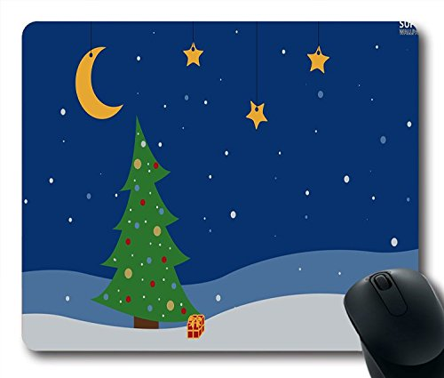 holidays christmas tree in the night 25472 1280x800 Style mouse pad Size 9 Inch(220mm) X 7 Inch(180mm) X 1/8(3mm)