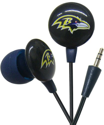 Ihip Nff10200bar Nfl Baltimore Ravens Mini Ear Buds, Purple/black Picture