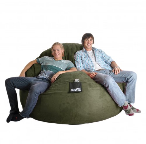 Amazing Reviews 6 Olive Green Foam Beanbag Chair Huge Round Slacker Andrewgaddart Wooden Chair Designs For Living Room Andrewgaddartcom