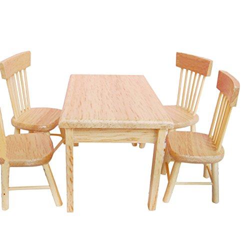 Miniature Cucina Tavolo Bianco Set Casa delle Bambole Mobili Casa Decorazione Decorazione Decorazione da giardino fata decor Scala 1: 12Casa Delle Bambole