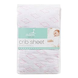 aden® by aden + anais® Muslin Fitted Crib Sheet in Pink Diamond
