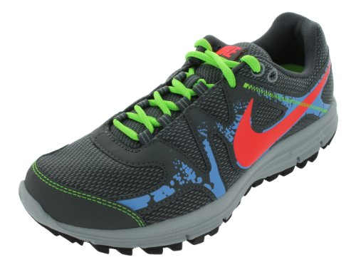 Nike Women's NIKE LUNARFLY+ 3 TRAIL WMNS RUNNING SHOES 7.5 Women US (STLTH/BRIGHT CRIMSON/DRK GRY/UNVR)