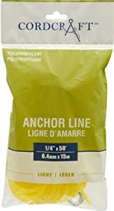 Buy Cordcraft Anchor Line Polypropylene Yellow (1 4X50) by Cordcraft