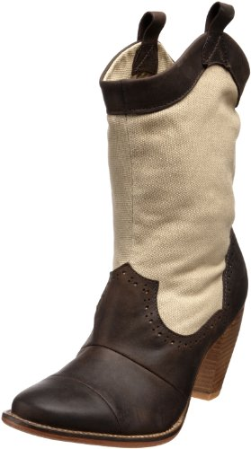 J. Shoes Women's Corral Fab Boot,Dark Brown/Tan,8.5 US/8.5 M US
