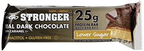 NuGo Stronger Real Dark Chocolate with Caramel, 2.82 Ounce (pack Of 12)