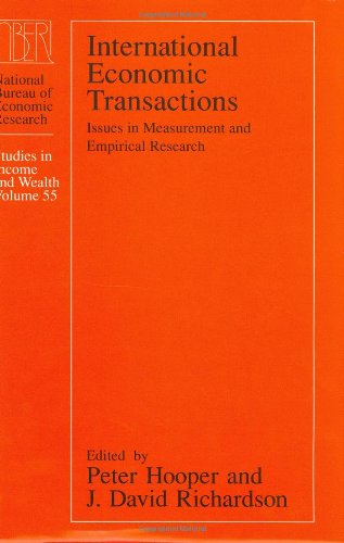 international economic transactions national bureau of economic research studies in income and