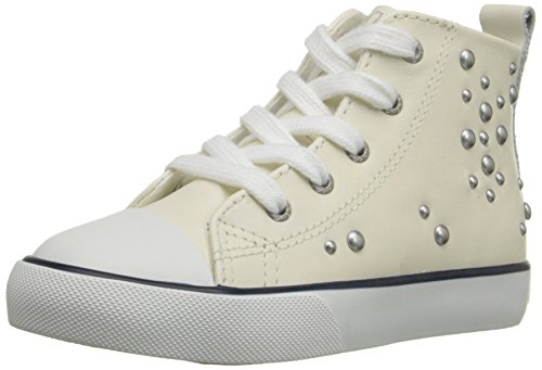 Polo Ralph Lauren Kids Harbourhi CRM W/Antique Studs Fashion Sneaker (Toddler/Little Kid/Big Kid), Cream, 5 M US Big Kid