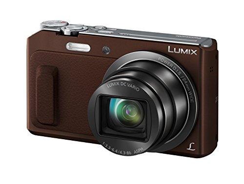 Panasonic DMC-TZ58EG-T Lumix Kompaktkamera (16 Megapixel, 20-fach opt. Zoom, 7,6 cm (3 Zoll) LCD-Display, Full HD, WiFi, USB 2.0) braun