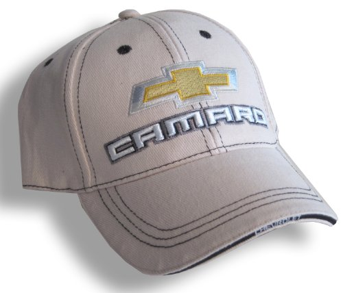 Chevrolet Camaro Bowtie Hat Cap, Bone back-1019640