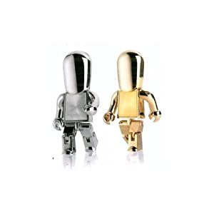 Cool metal Robot 4 GB USB Flash Drive - silver