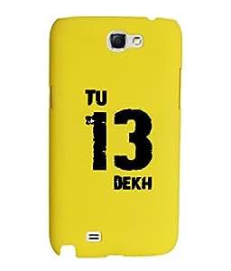KolorEdge Back Cover For Samsung Galaxy Note II N7100 - Yellow (1872-Ke15071SamNote2Yellow3D)