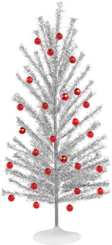 Aluminum Silver Retro Christmas Tree