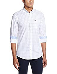 Arrow Sports Men's Casual Shirt (8907259820361_ASRS3209_40_White)