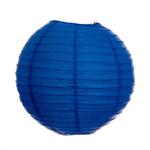 Koyal 8-Inch Paper Lantern, Ocean Blue, Set of 6