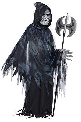 Childs Soul Taker Scary Halloween Party Grim Reaper Fancy Dress Costume