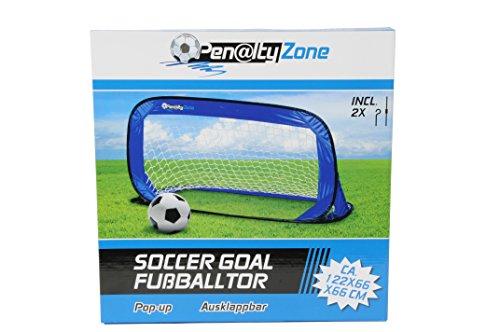 Porta Da Calcio Pop Up 122 X 66 Cm Per Attività Sportiva All'Aperto Allenamento Rigori Goal Penalty Zone