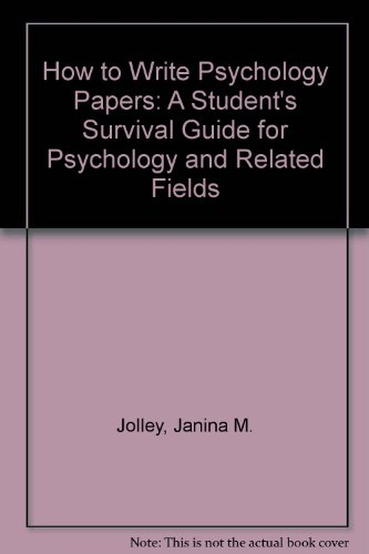 writing research papers in psychology Writing for psychology through, step by step, the process of writing an essay or term paper in psychology research results.