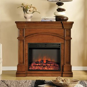 Muskoka Oberon Electric Fireplace Mantel in Burnished Walnut - MEF2391BWL image B00FJW4DFC.jpg