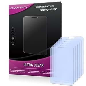 6 x SWIDO Ultra Clear Displayschutzfolie für ZTE Kis Plus / Kis+ - Displayschutz kristallklar
