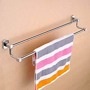 contemporary style double bars towel rack