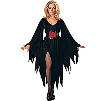 Moolecole Halloween Witch Cosplay Costume Women Dress Halloween Props