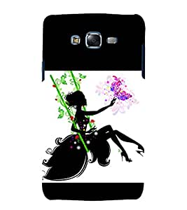 printtech Beautiful Girl Floral Abstract Back Case Cover for Samsung Galaxy Grand 2 G7102 / Samsung Galaxy Grand 2 G7106