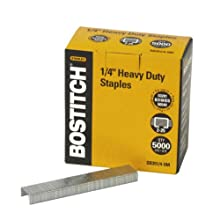 Stanley Bostitch Premium Quality Heavy Duty Staples, 0.25 Inch, 5,000 Count Box (SB351/4-5M)