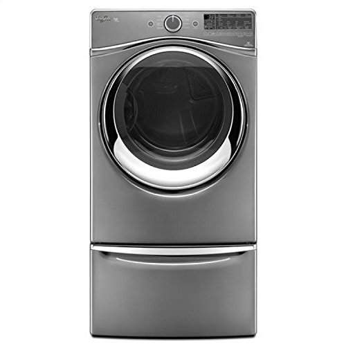 Whirlpool Wed97Hedc Duet 7.4 Cu. Ft. Chrome Shadow Stackable With Steam Cycle Electric Dryer