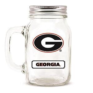 Georgia Bulldogs Ncaa Mason Jar Glass With Lid from DUCK HOUSE