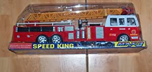 FIRE RESCUE FRICTION POWERED FIRE ENGINE WITH SIREN FIRETRUCK WITH LIGHTS AND SOUNDS