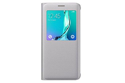 Genuine Samsung Galaxy S6 edge+ S View Case Flip Cover - Silver (EF-CG928PSEGWW)